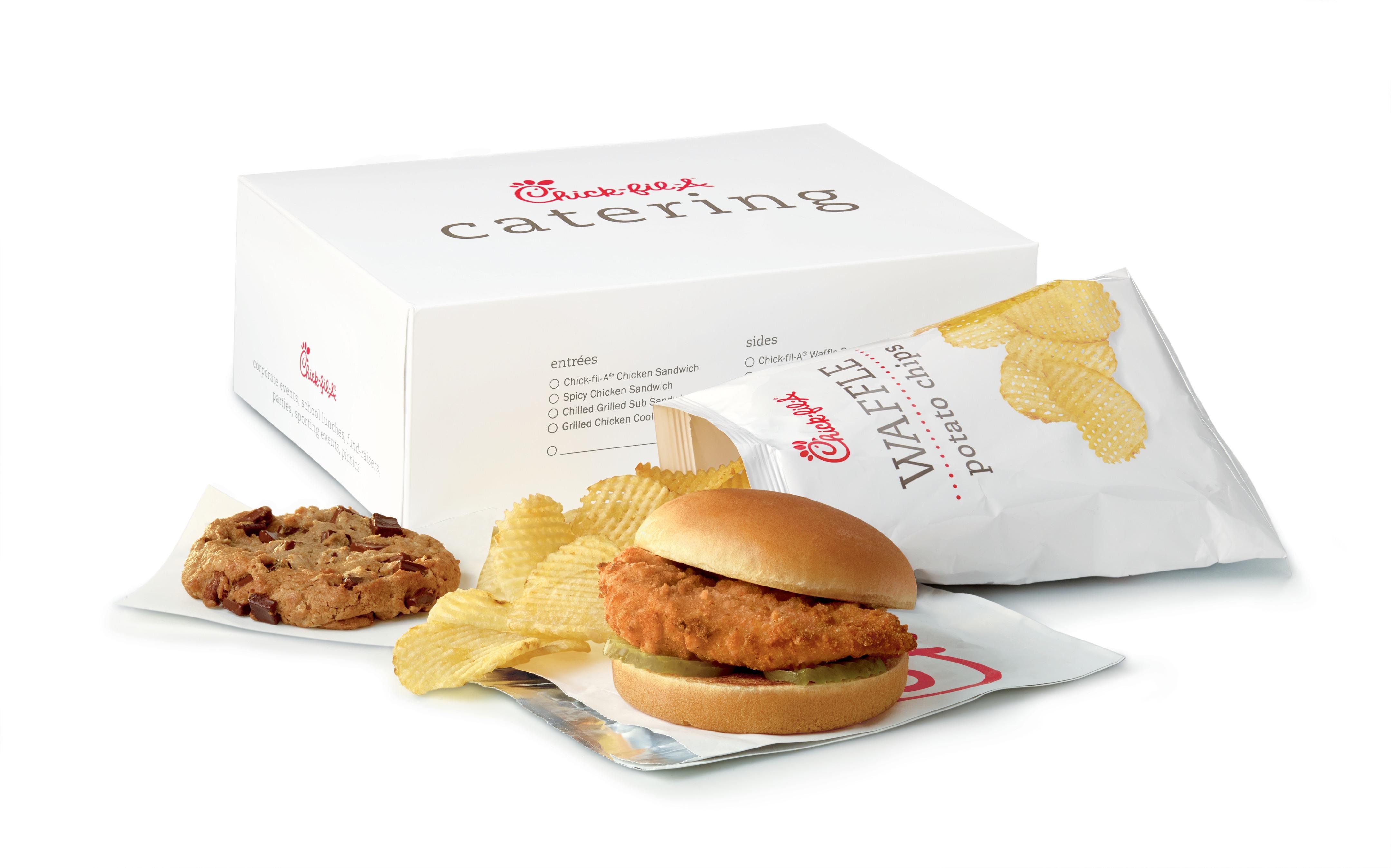 Chic-fil-A Chicken Sandwich, Chips, Cookie