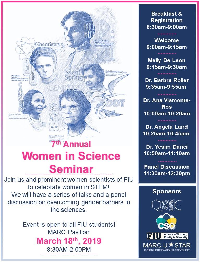 Women in Science Program Agenda