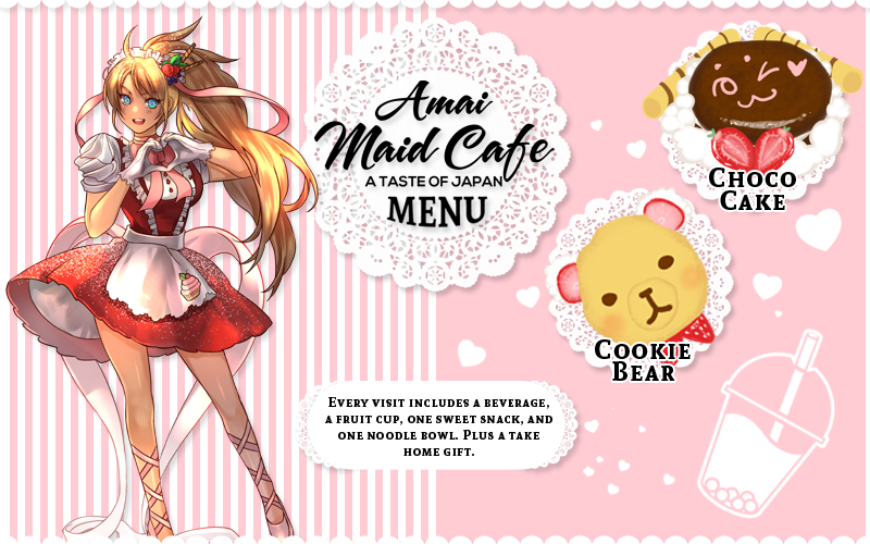 Amai Maid Cafe Menu
