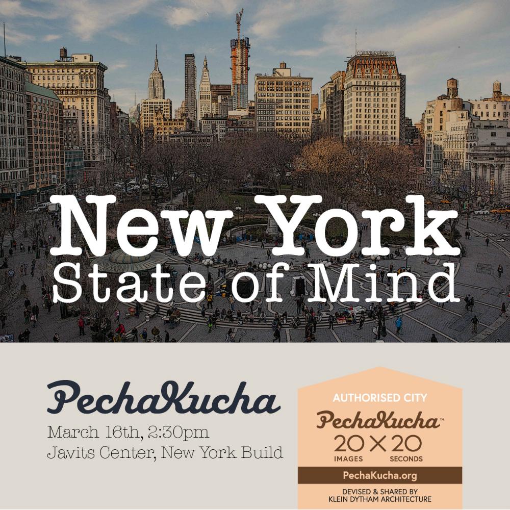PechaKucha At New York Build  Tickets Thu Mar   At - Nyc map javits center
