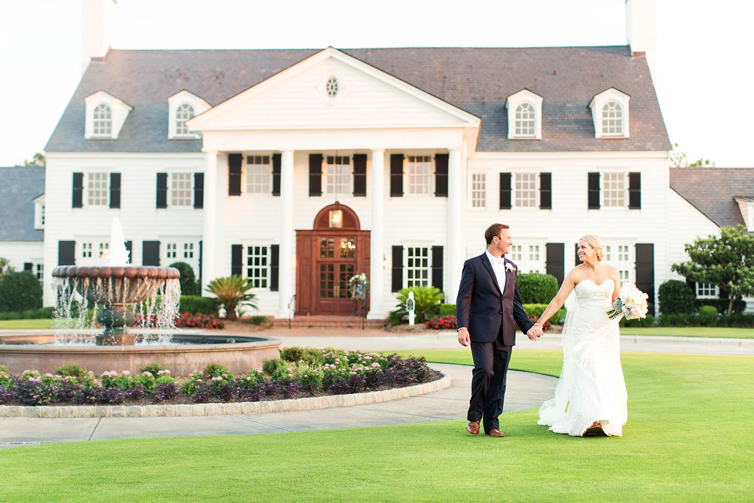 bride and groom at Pine Lakes Country Club