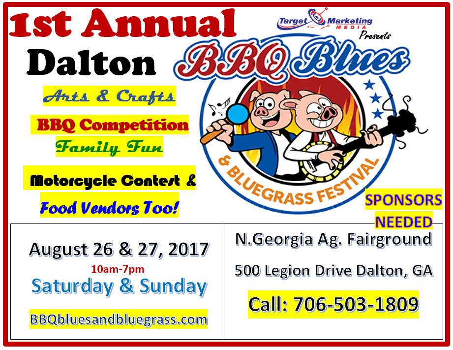 Cleveland tn 1st annual bbq blues and bluegrass festival for Vendors wanted for craft shows 2017
