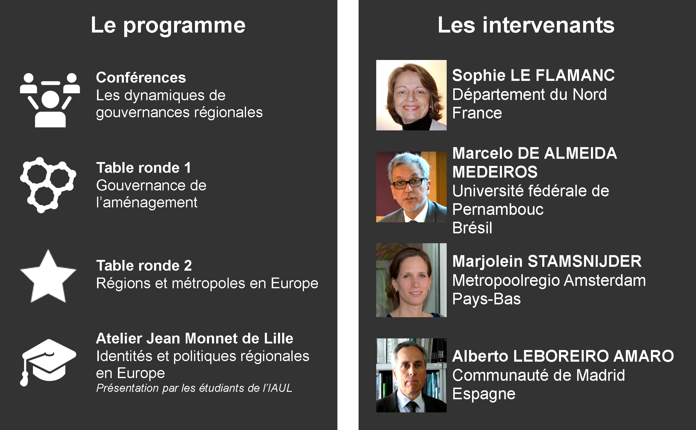Programme et intervenants