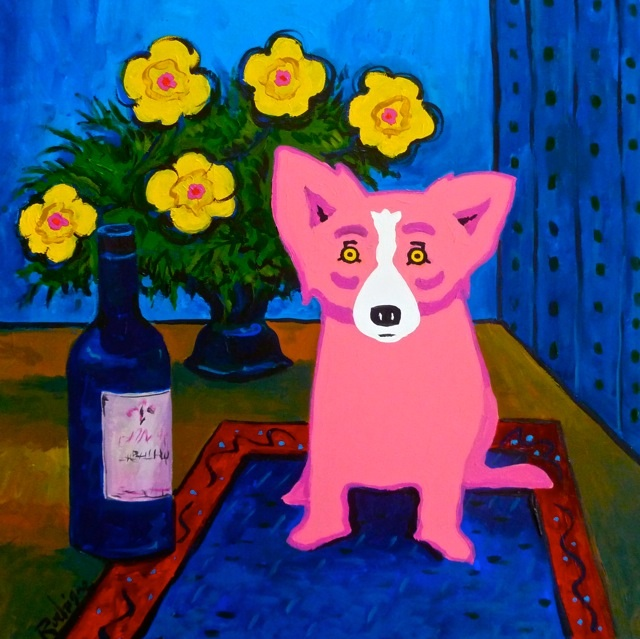 George Rodrigue- A Bouquet of Rose