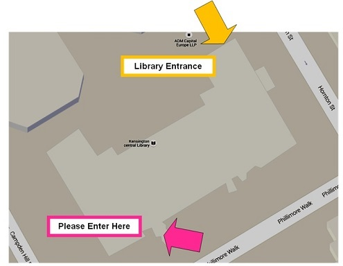 Directions to the lecture theatre