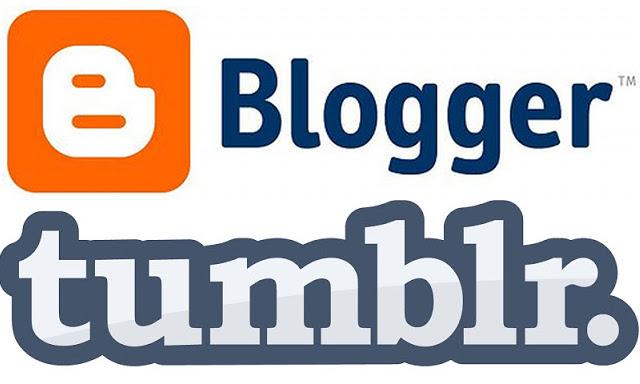 Blogger and Tumblr Logos