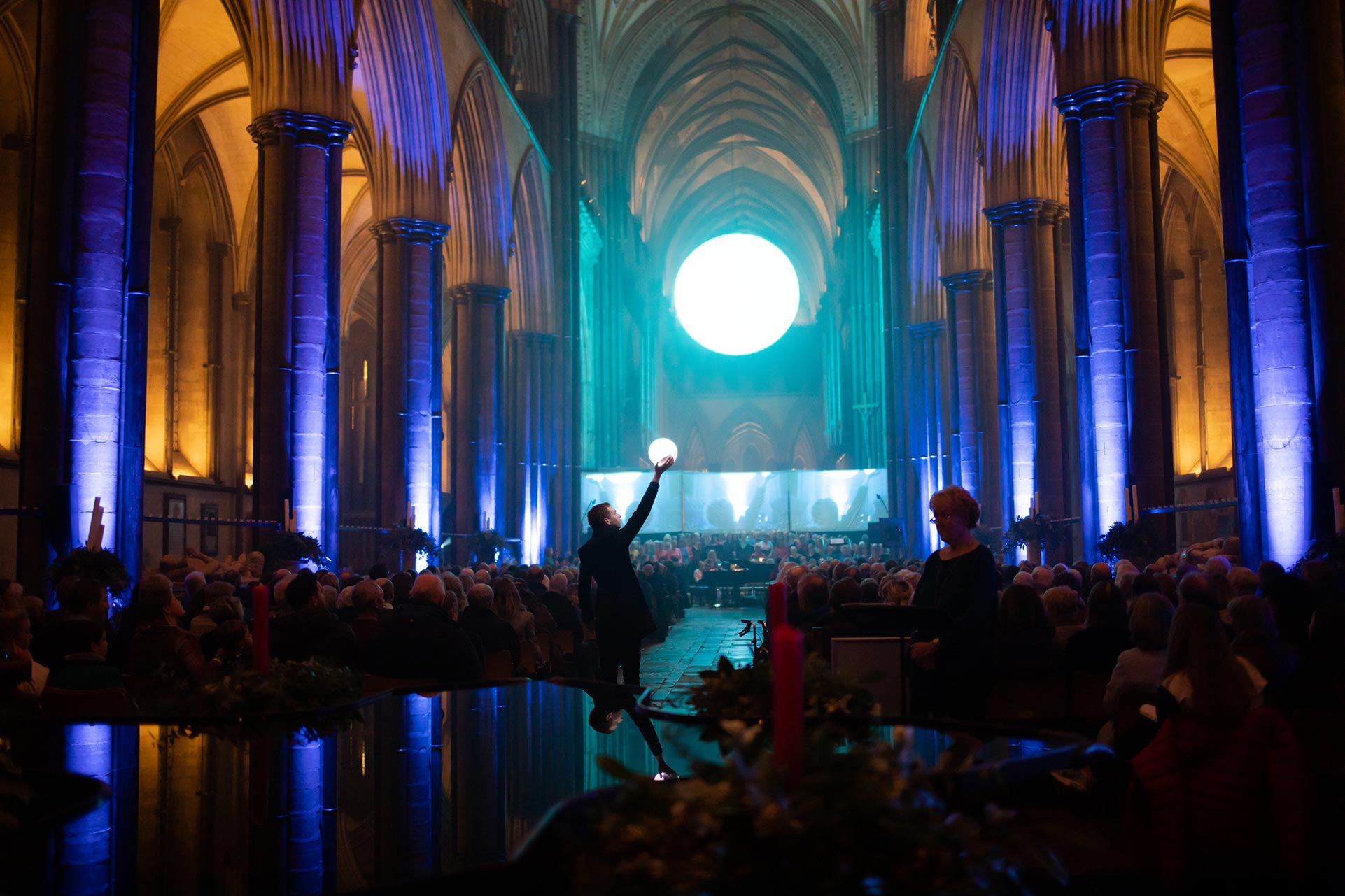 The Light Art Installation, Salisbury Cathedral