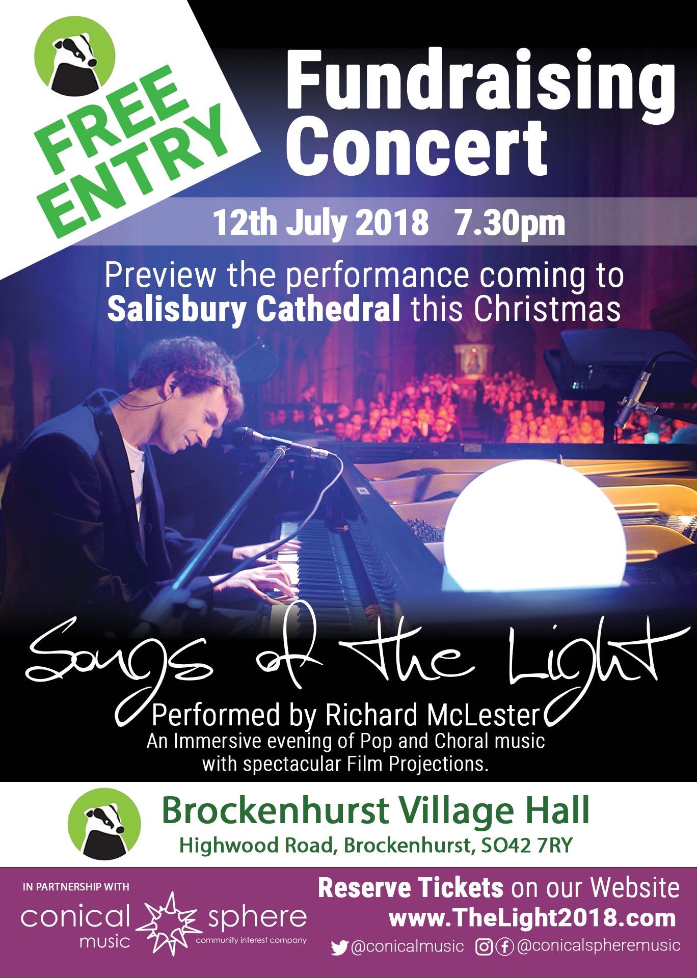 Fundraising Community Concert Brockenhurst Village Hall