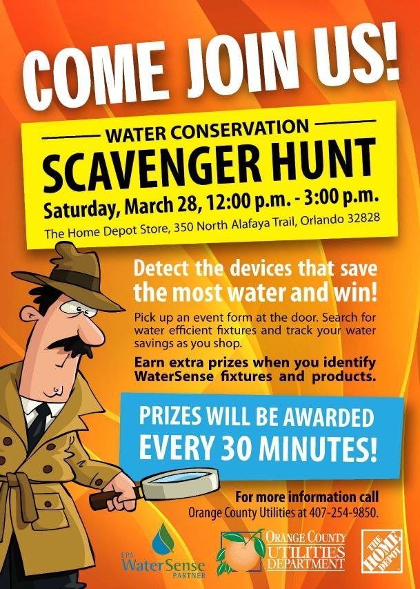 scavenger hunt flyers
