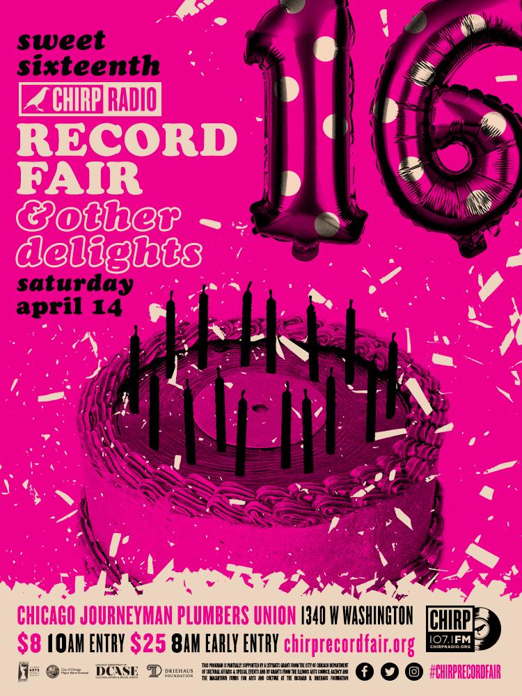 16th Annual Record Fair poster by Ian Sienicki