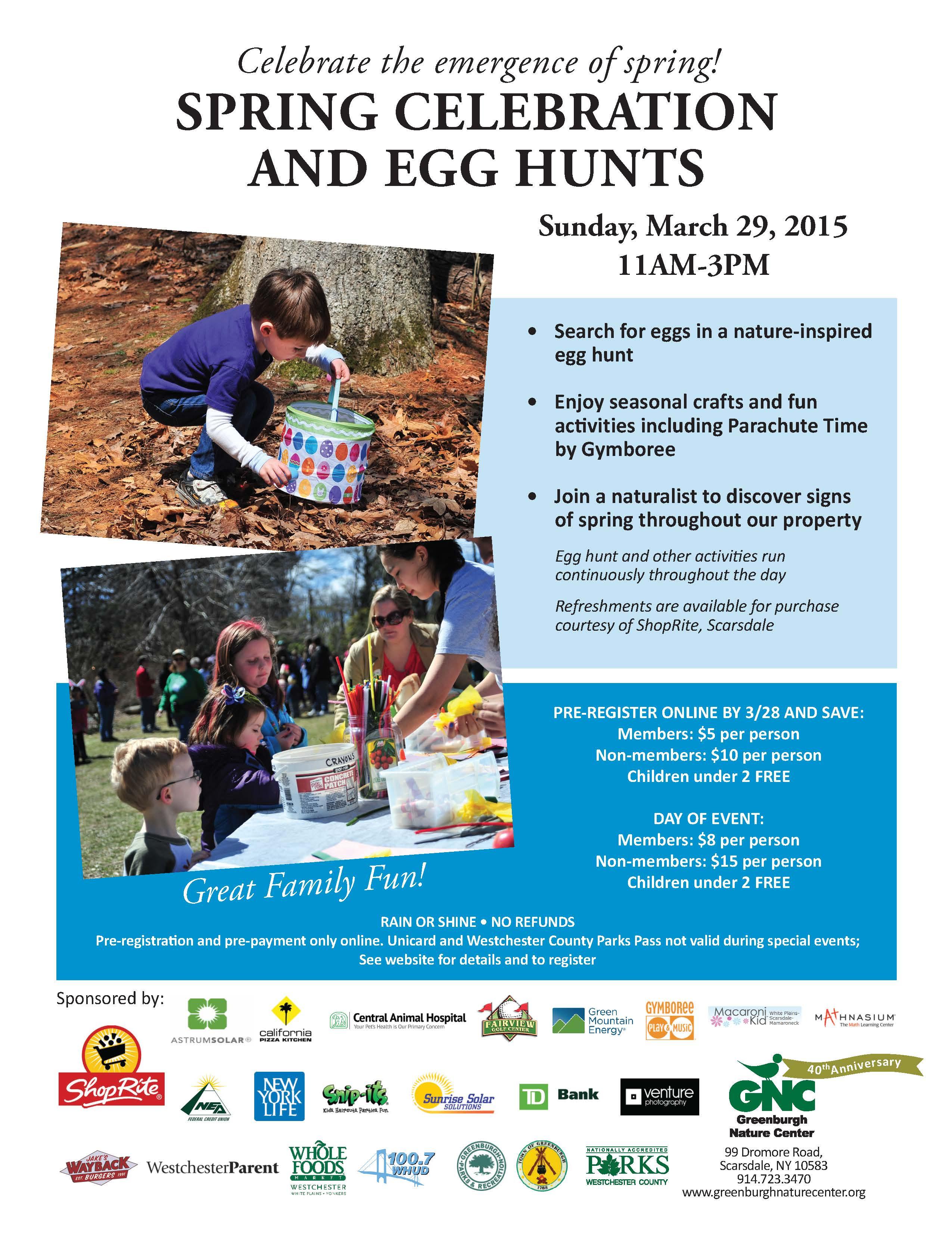 Spring Celebration and Egg Hunts