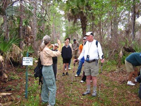 Deb Hanson leading hike