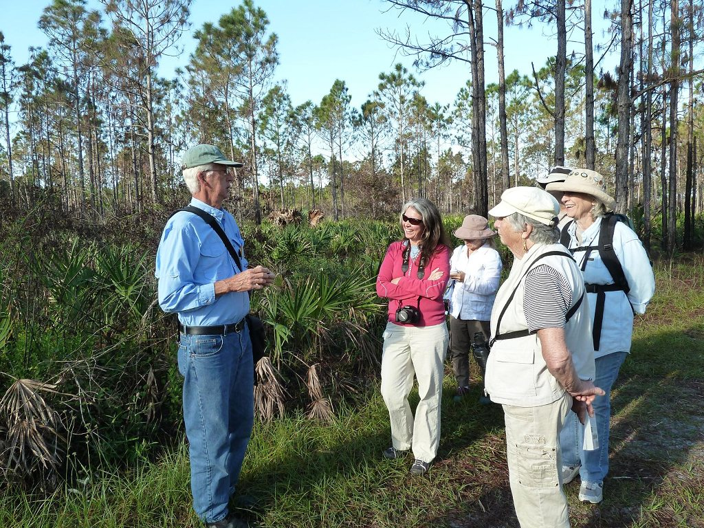 Glen Stacell leads a wildflower ID hike