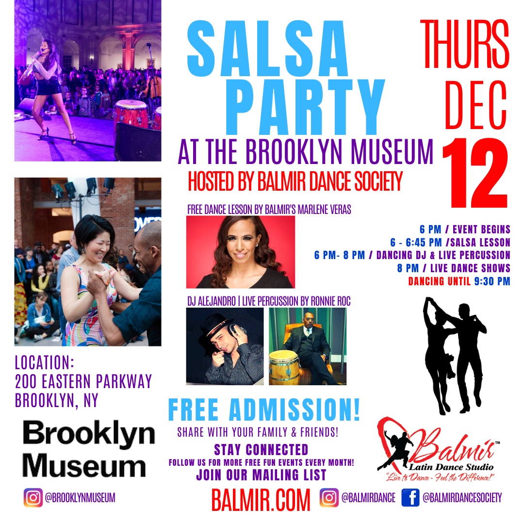 Salsa Latin Dance Party in Brooklyn December 12 2019