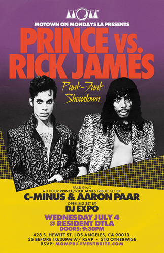 PRINCE vs RICK JAMES