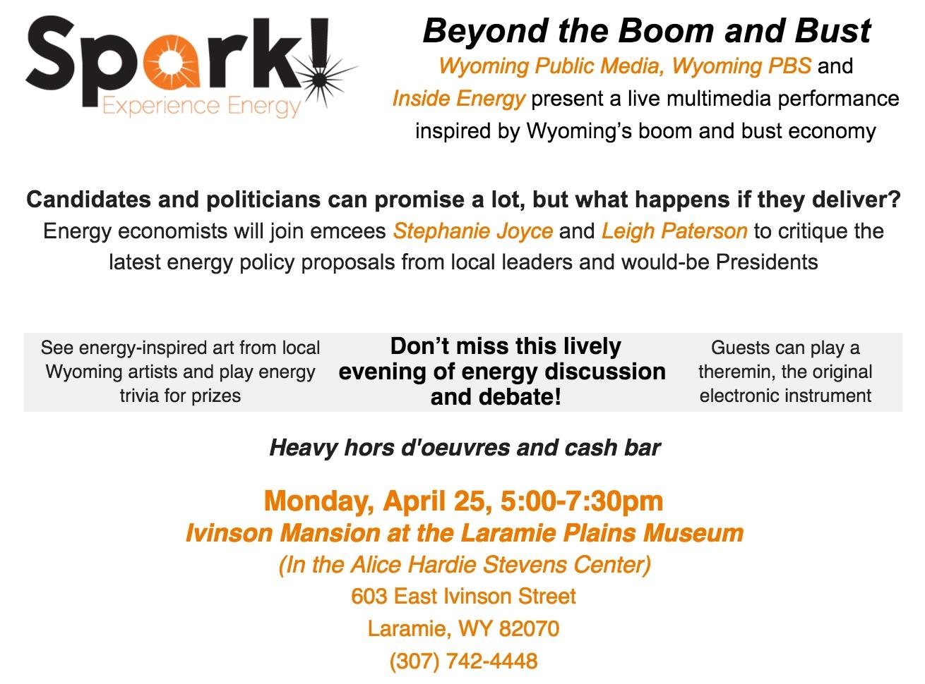 Invite Copy: Spark! at Ivinson Mansion