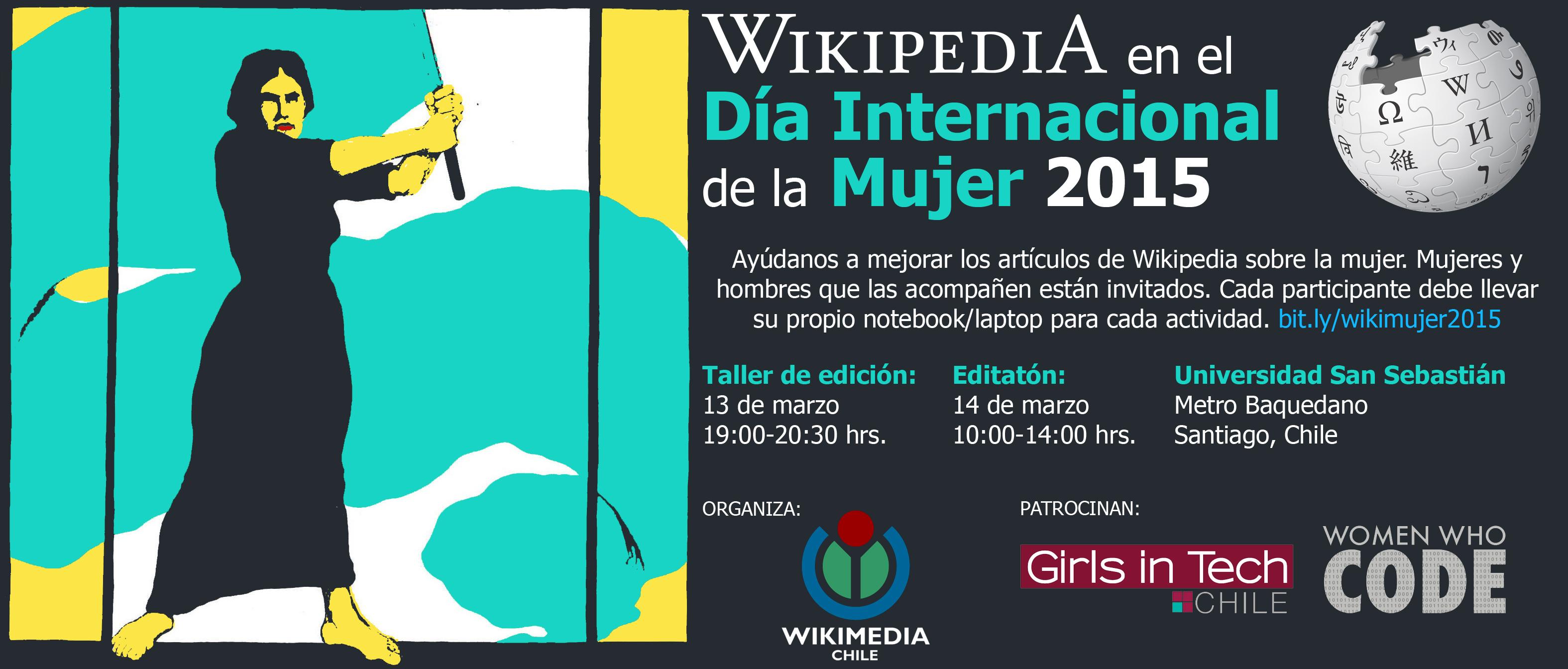 Afiche del Wiki Celebración Día Internacional de Mujer 2015