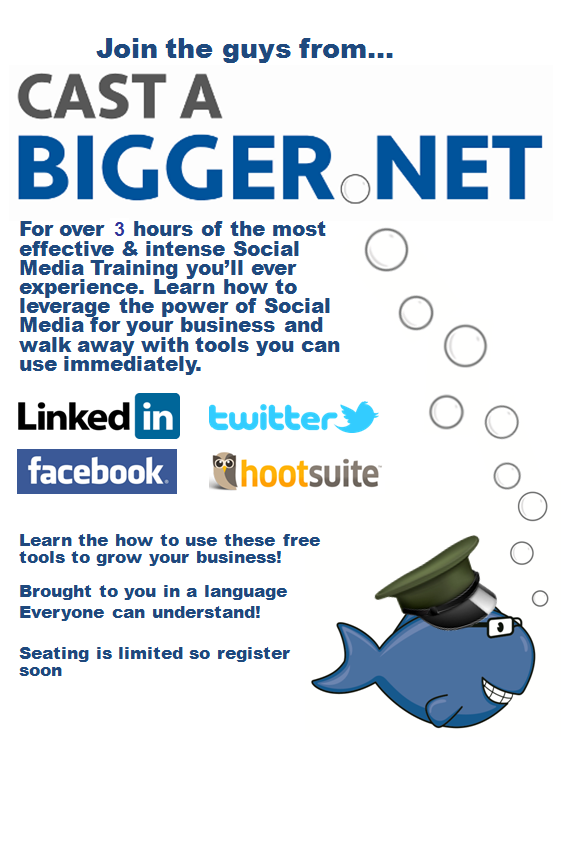 Event description Cast A Bigger Net Social media Boot Camp