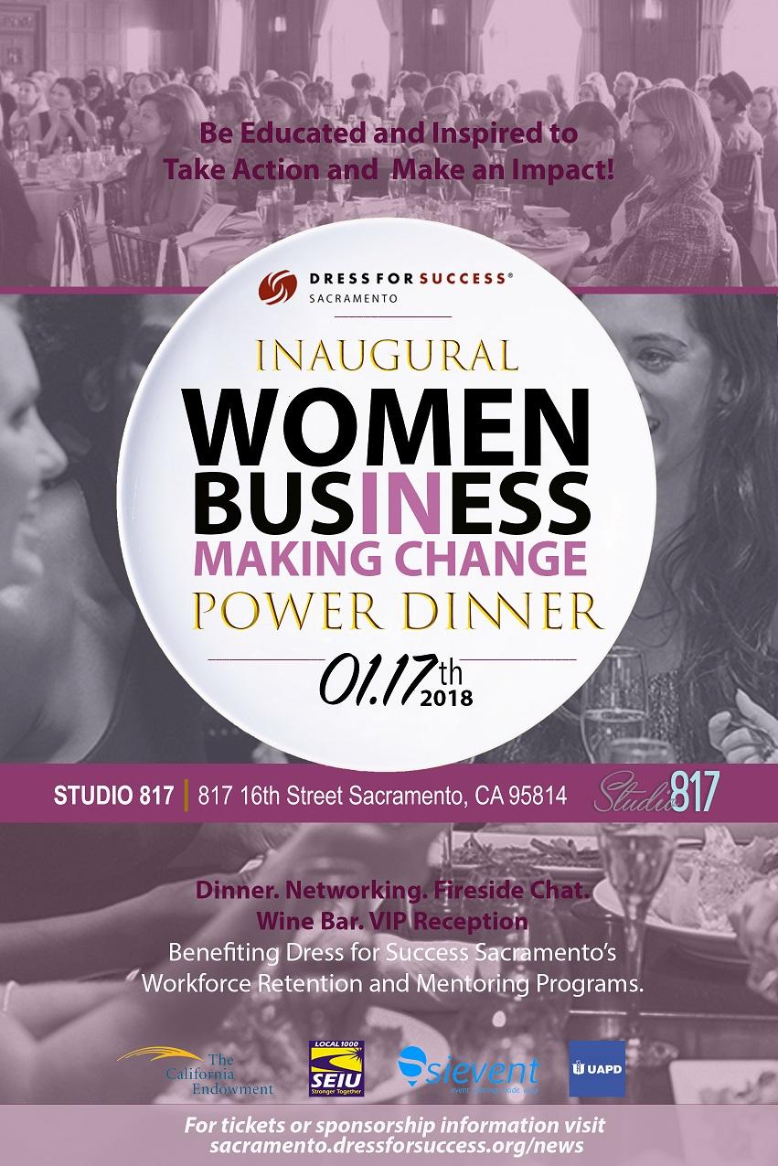 Women in Business Making Change Dinner Flyer