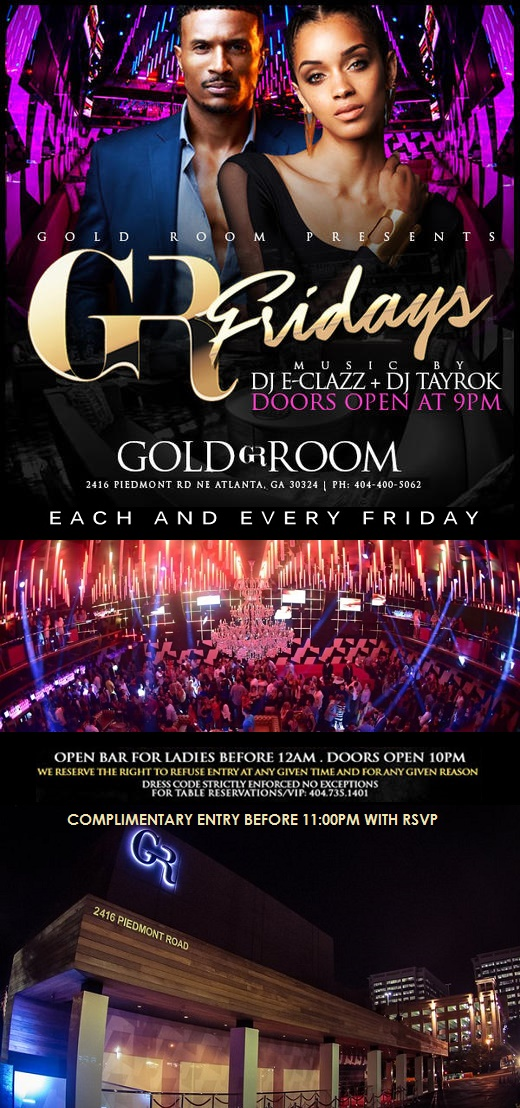 Friday Night @ The Gold Room ATL Tickets, Multiple Dates | Eventbrite