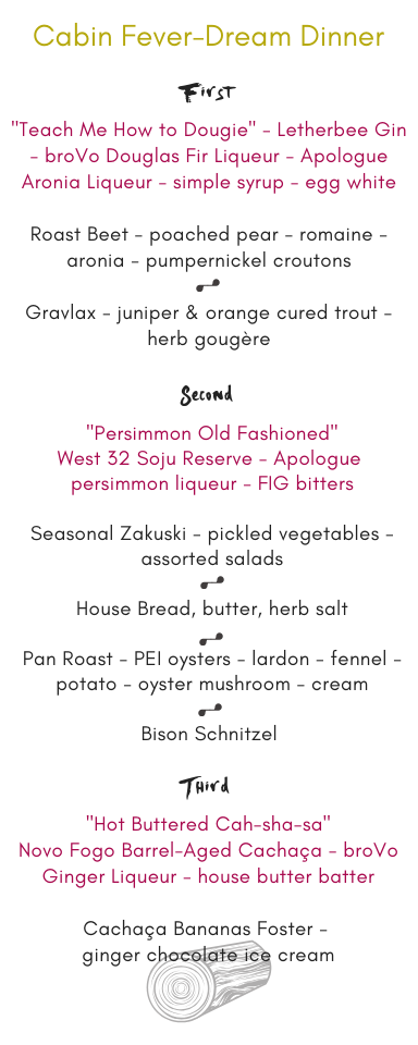 FIG Cabin Fever-Dream Menu