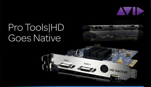 Avid Pro Tools HD Goes Native