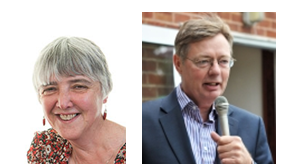 Rev Elizabeth Clarke and Gary Streeter MP
