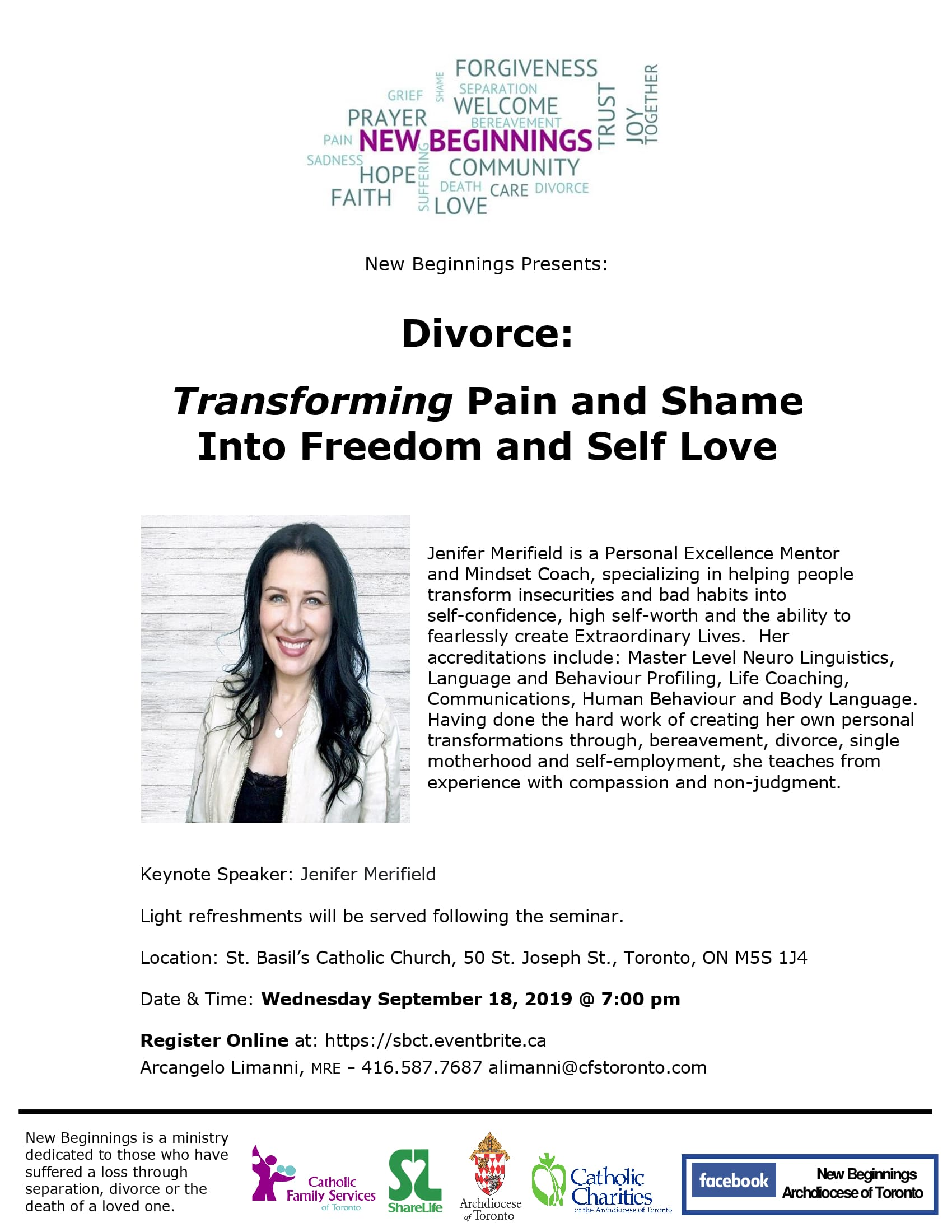 New Beginnings Seminar - Divorce: Transforming Pain and