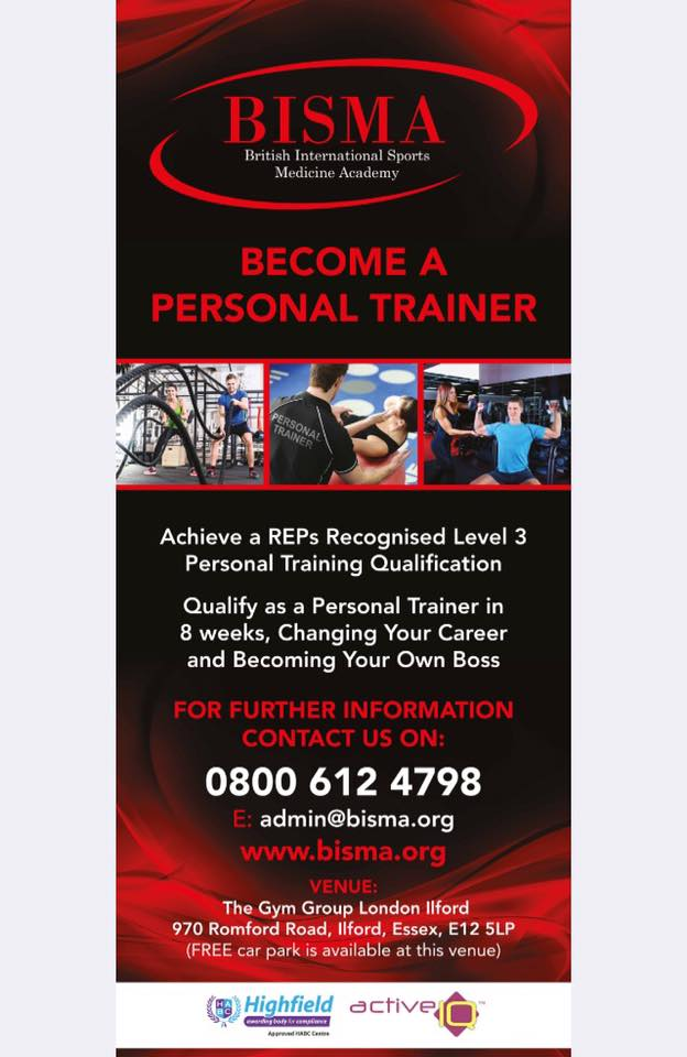 Personal Training Course in London BISMA
