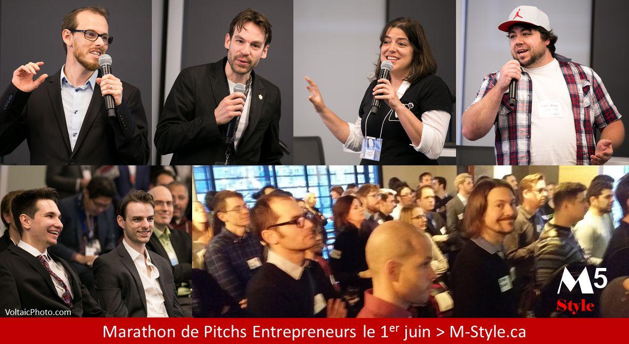 Marathon de pitchs entrepreneurs