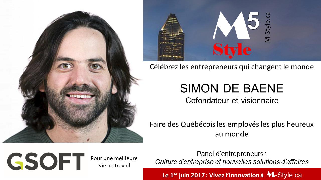 Simon de Baene conférence M-Style Solutions d'affaires