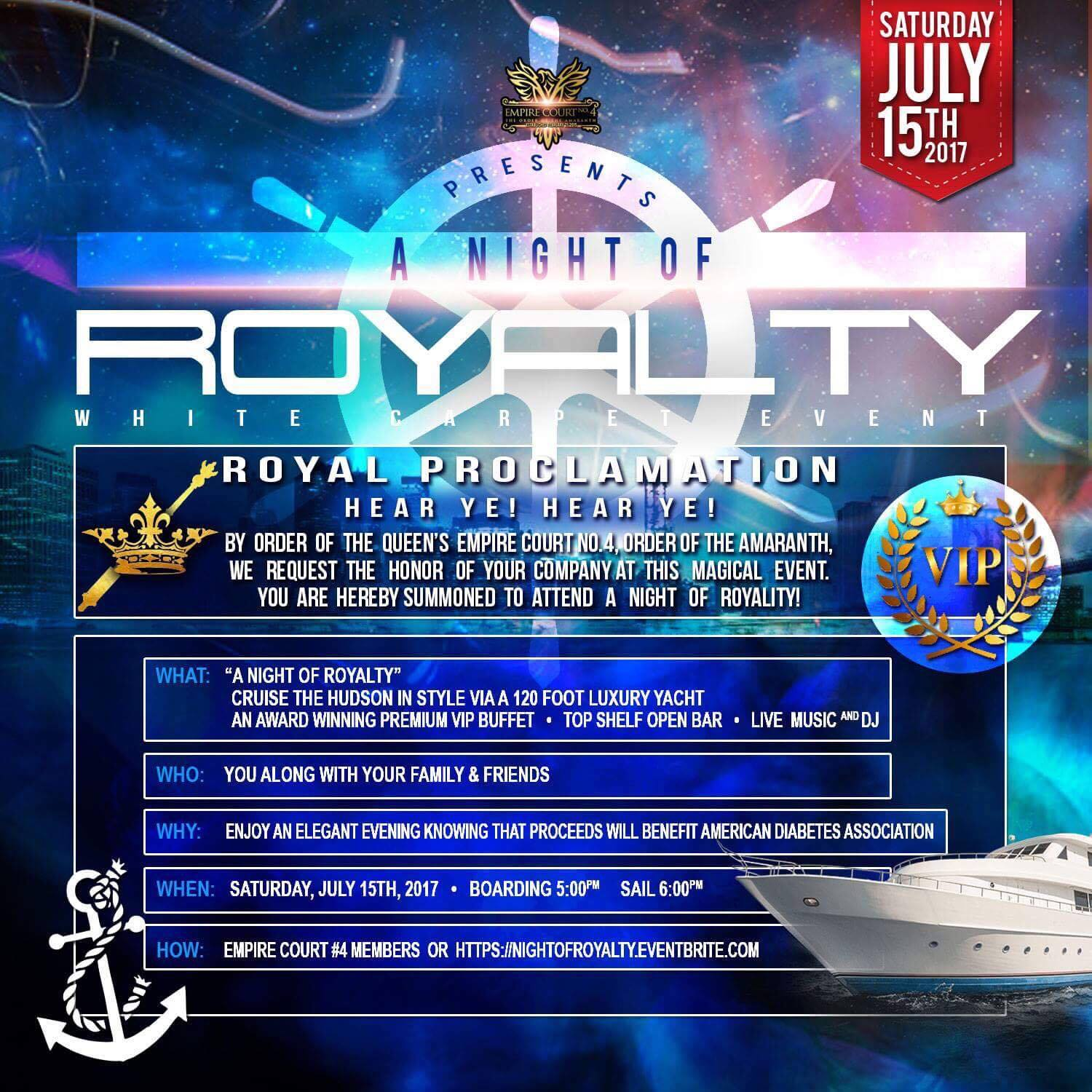 Invitation to a Night of Royalty