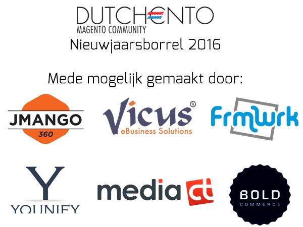 Sponsoren Dutchento Nieuwjaarsborrel