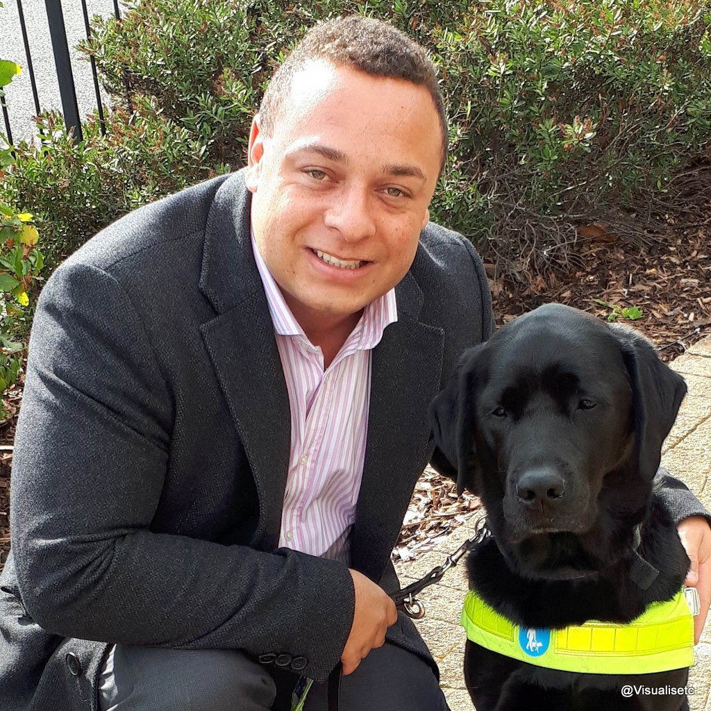 Dan and trusty guide dog zodiac