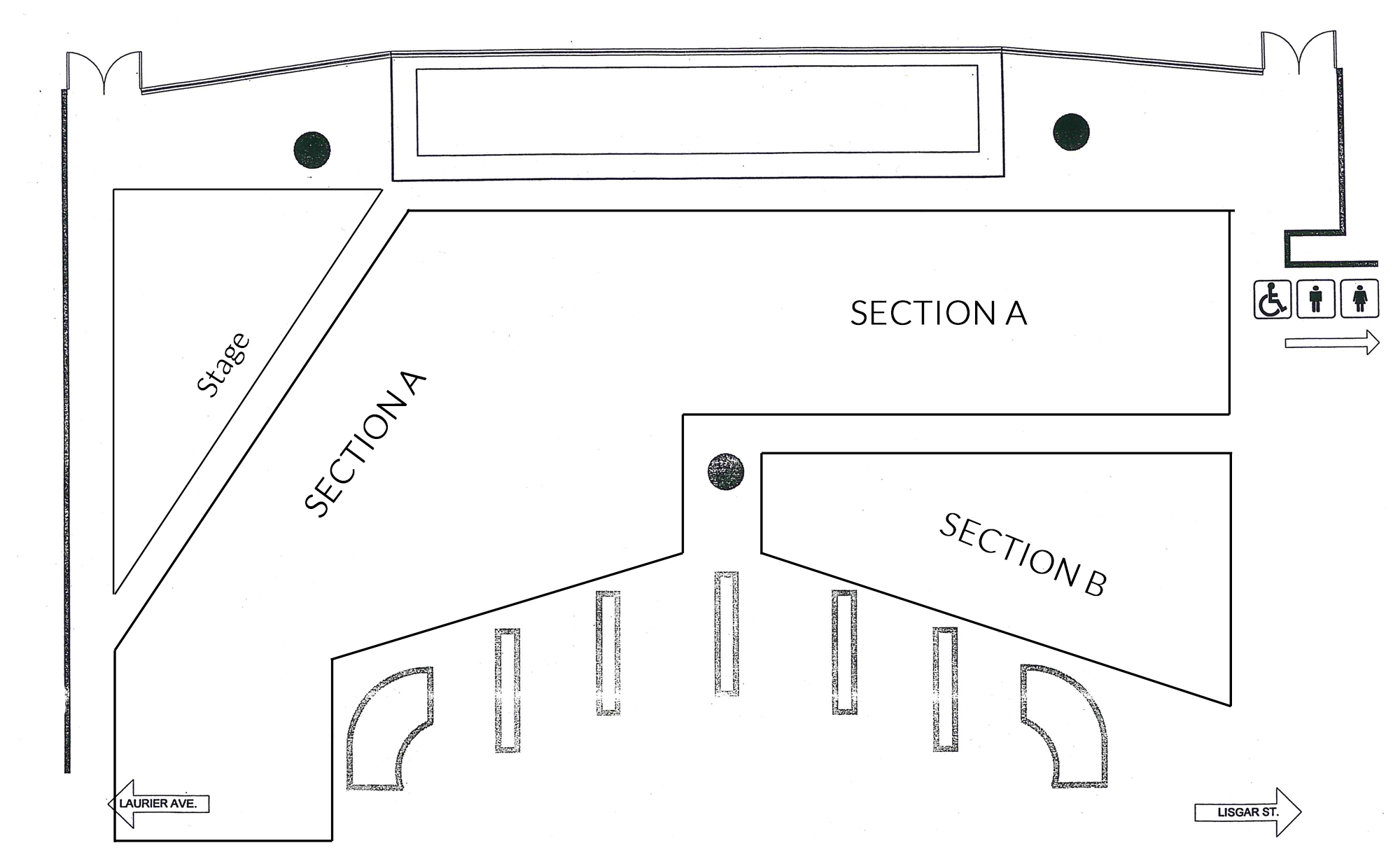 Seating plan at City Hall