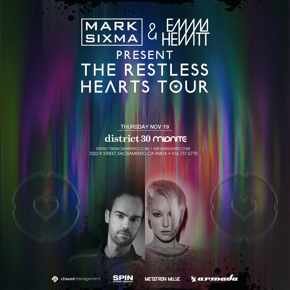 Emma Hewitt & Mark Sixma at District 30 tickets