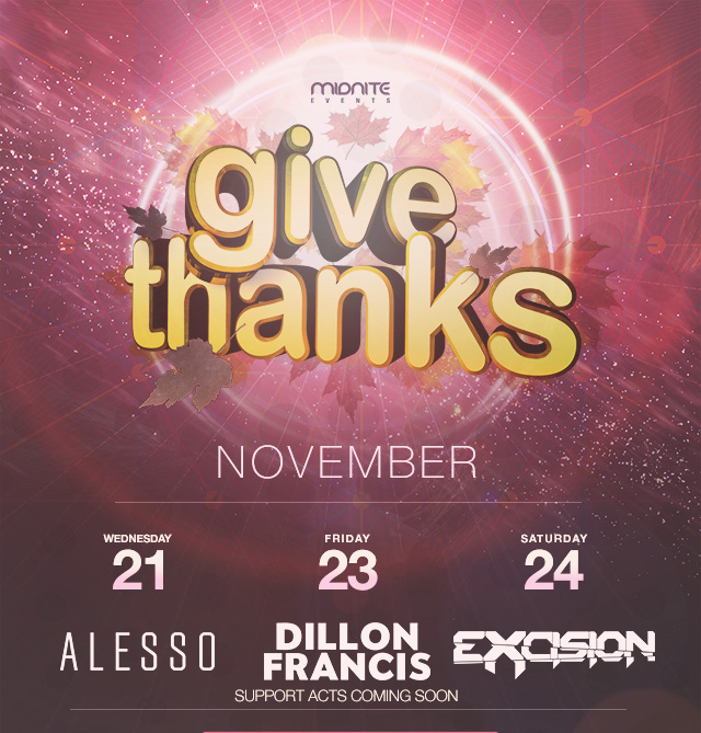 Give Thanks 18 initial lineup