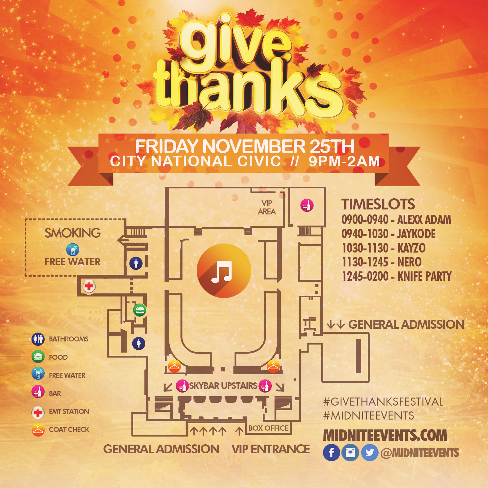 Give Thanks 2016 Friday map timeslots