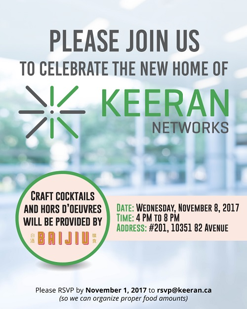 Keeran Networks - Open House Flyer