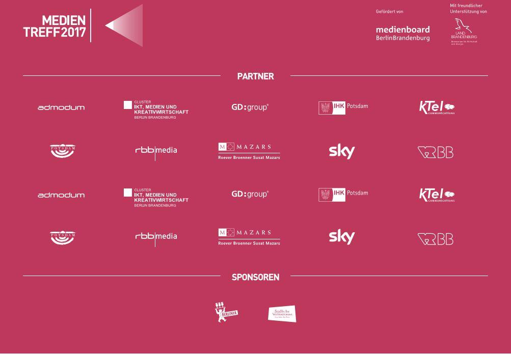 Partner und Sponsoren medientreff 2017