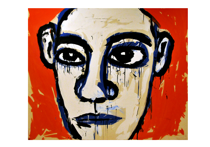 Face #2 by Matt Helt (5'x6') Acrylic on Canvas