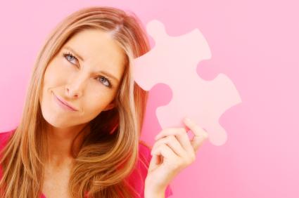 woman and jigsaw