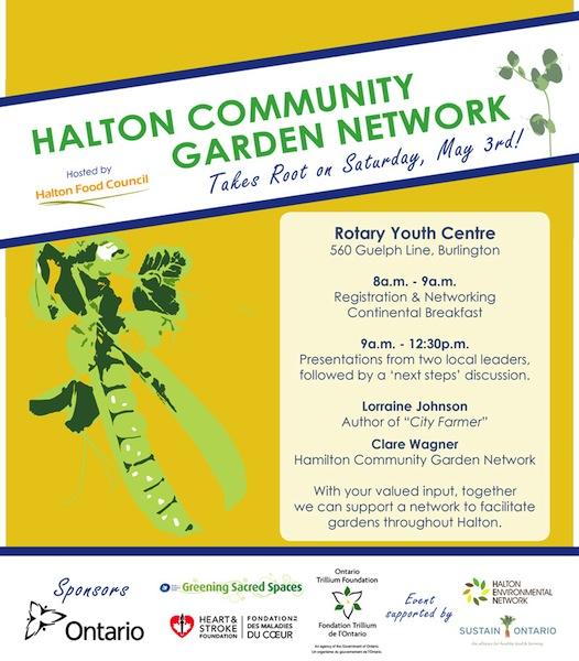 Halton Community Garden Network Tickets Sat May 3 2014