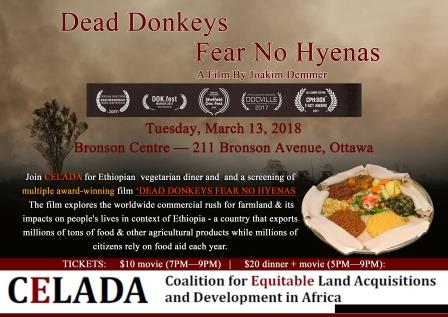 Dinner and Movie on March 13, 2018 at Bronson Centre Ottawa 5PM to 9pm