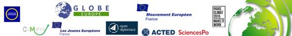 Partenaires Conférence du 13 avril : Huffington Post, Mouvement européen – France, Globe Europe, Hippocrène, SciencesPo Paris, Jeunes européens - France, CliMates/WARN, Open Diplomacy, ACTED