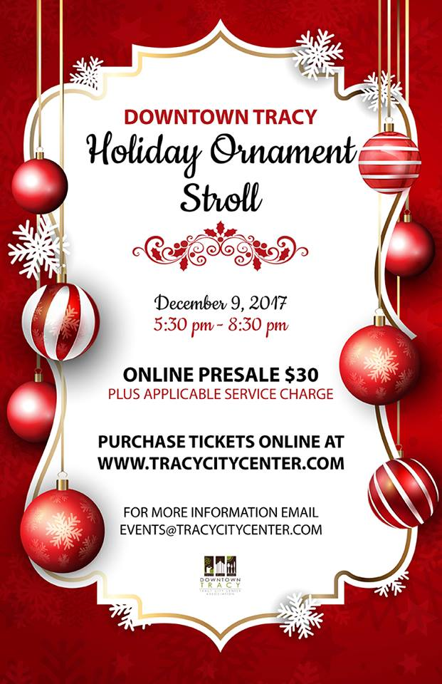 Downtown Tracy Holiday Ornament Stroll - 2017