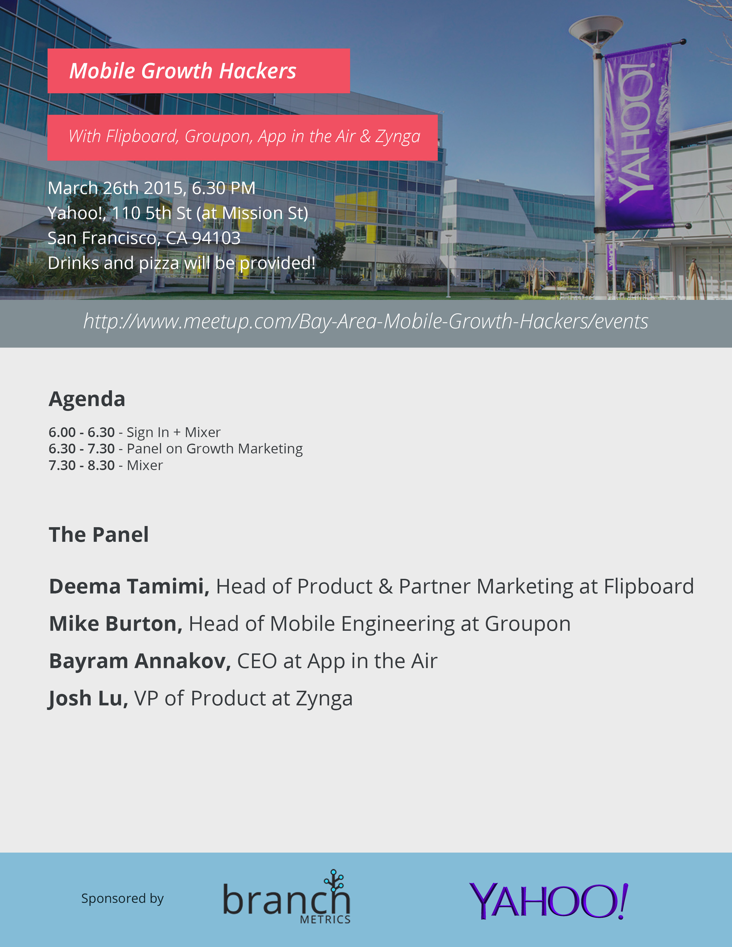 Mobile Growth Hacking with Flipboard, Groupon, App in the Air & Zynga at Yahoo