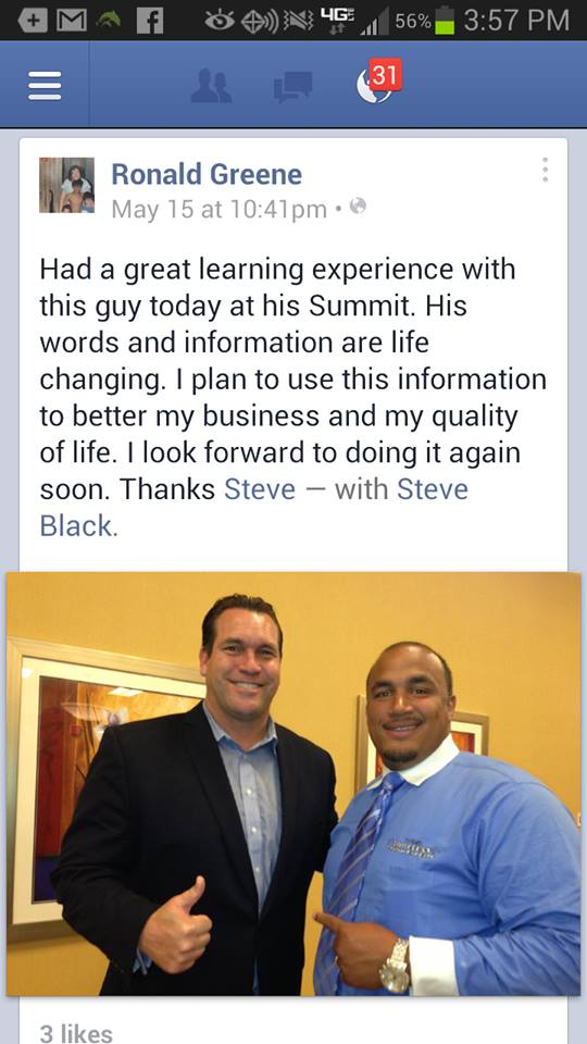 Faceboook Success Summit Testimonial