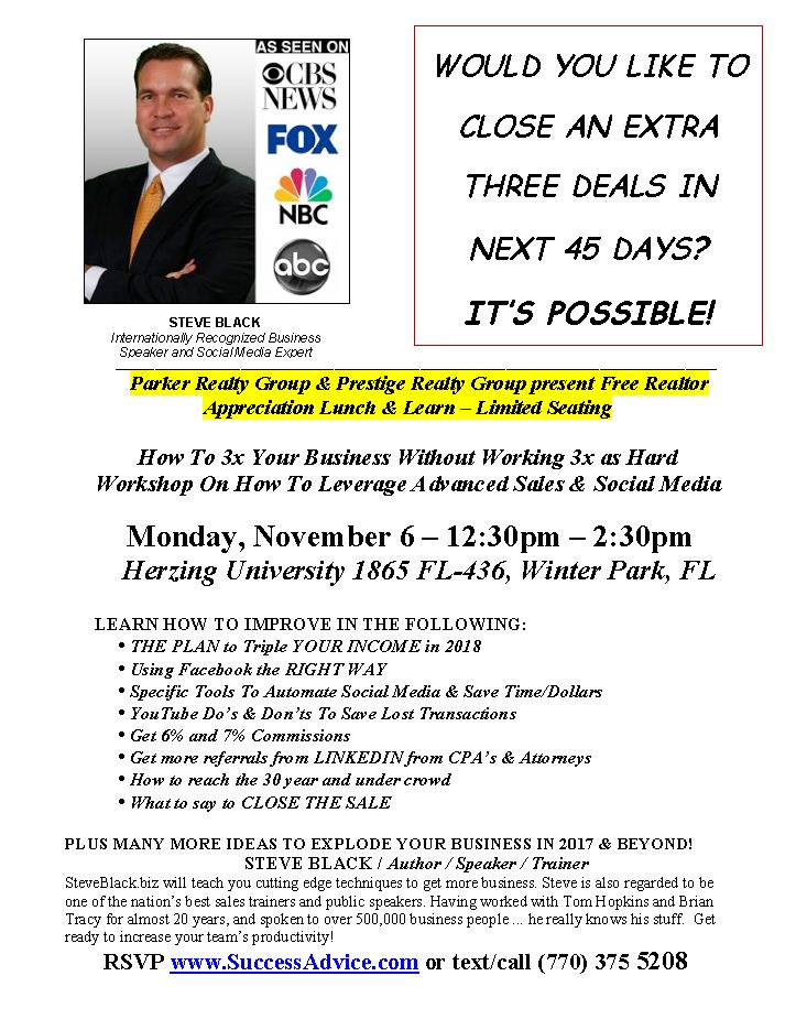 RSVP Realtor Lunch & Learn
