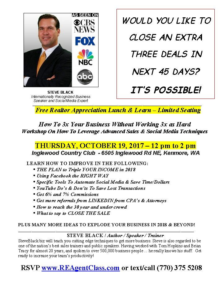 RSVP Realtor Lunch & Learn